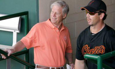 Photo of Peter Magowan and Aaron Rowand