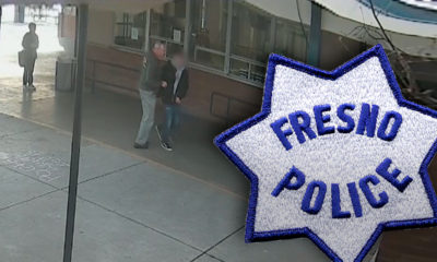 Composite of screen image and Fresno PD logo