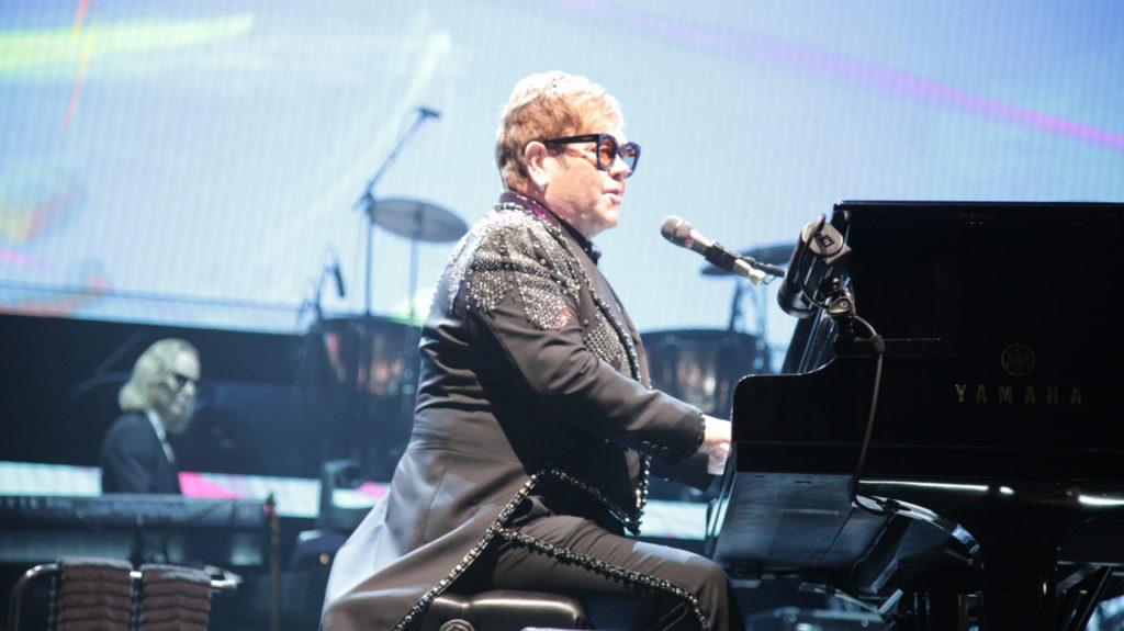 Elton John performs at the Save Mart Center in Fresno on Jan. 15, 2019 (GV Wire Photo/Jahz Tello)