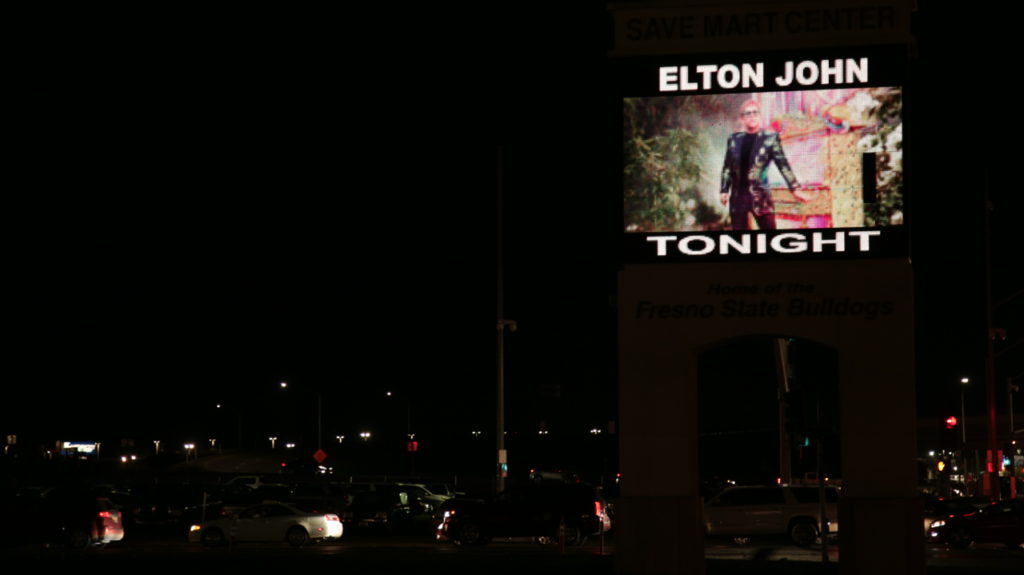 The marquee  at the Save Mart Center in Fresno on Jan. 15, 2019 (GV Wire Photo/Jahz Tello)