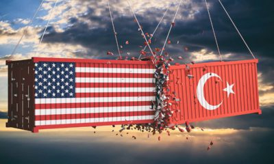 Image of a collision between US and Turkish cargo containers