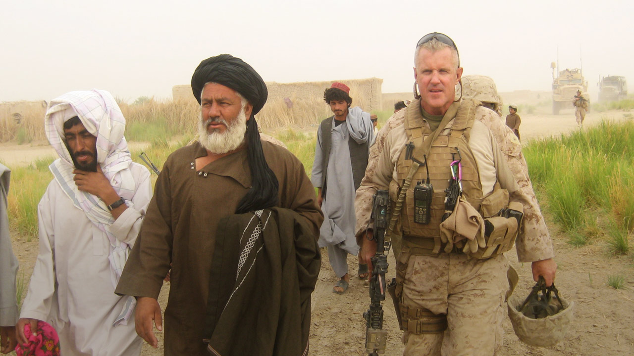 Picture of Marine Terry Slatic in Afghanistan