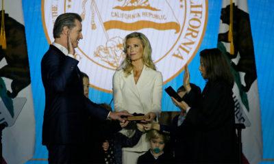 Photo of Gavin Newsom's swearing-in as California governor