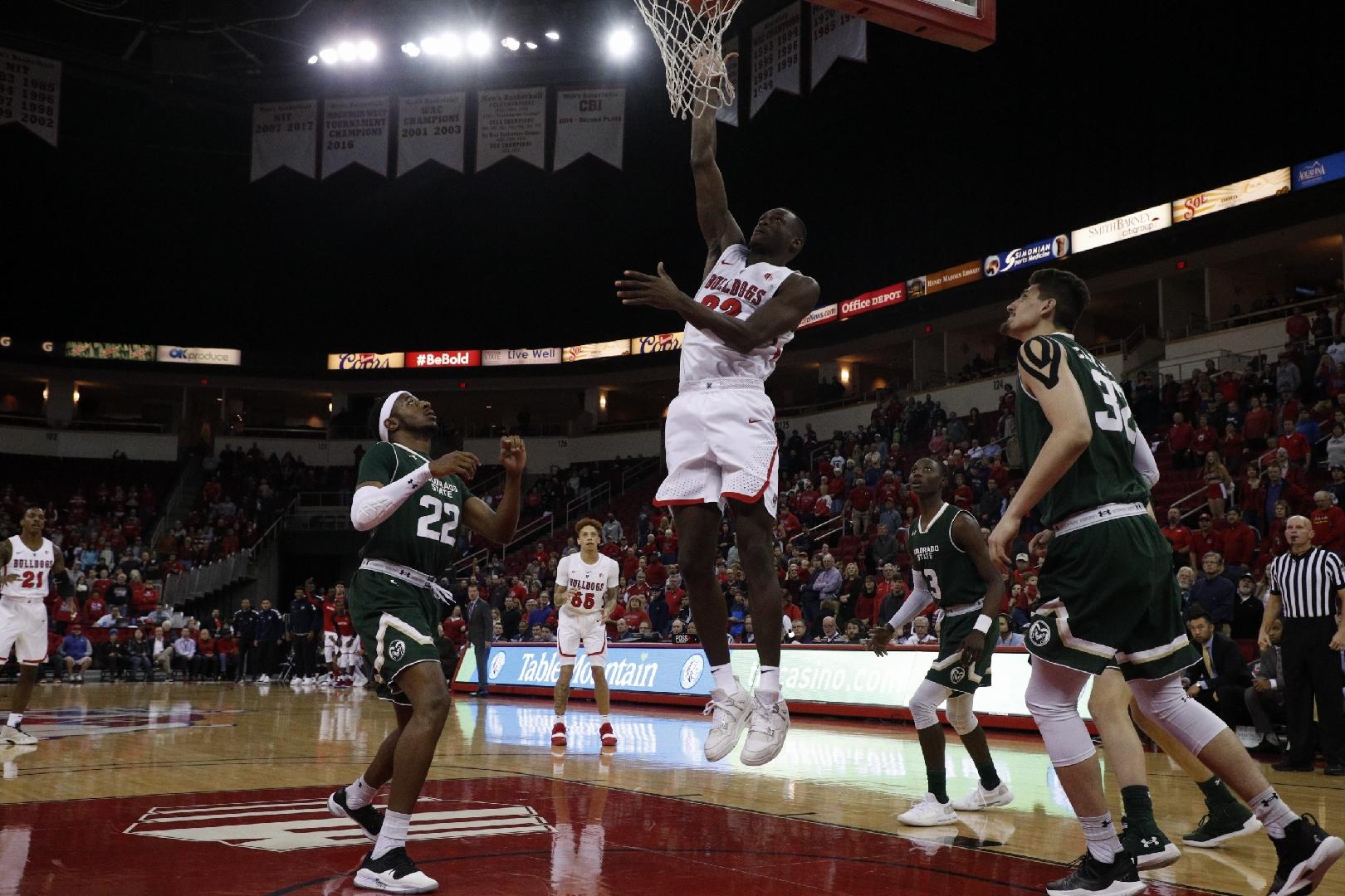 Photo of Fresno State basketball player Nate Grimes