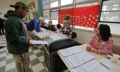 Photo of man voting in Venura County
