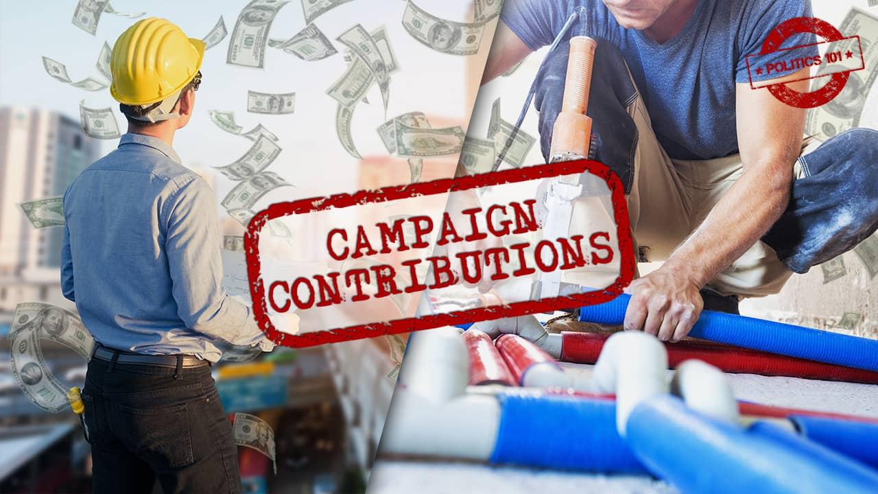 Composite Image of labor vs. developer donations