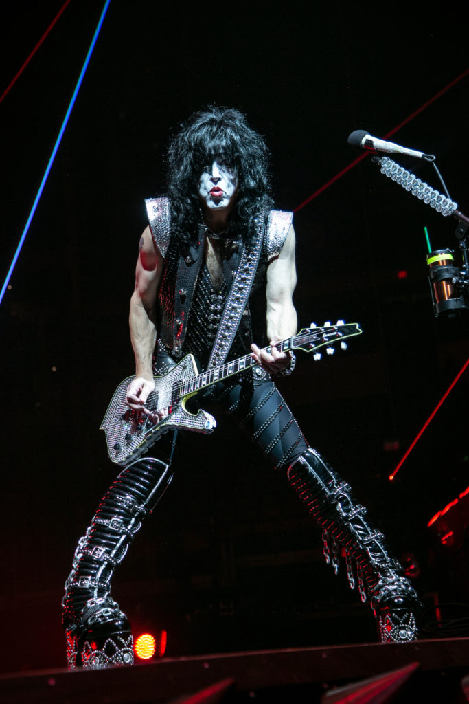 KISS's Paul Stanley performs perform at the Save Mart Center in Fresno on Feb. 8, 2019 (GV Wire Photo/Jamie Ouverson)