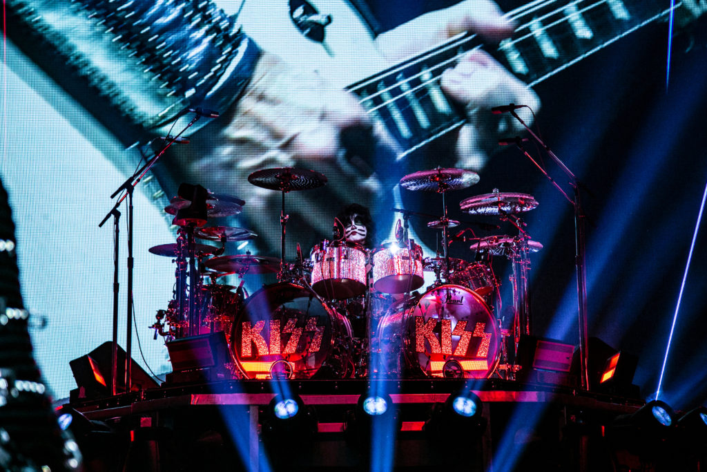Drummer Eric Singer of KISS perform at the Save Mart Center in Fresno on Feb. 8, 2019 (GV Wire Photo/Jamie Ouverson)