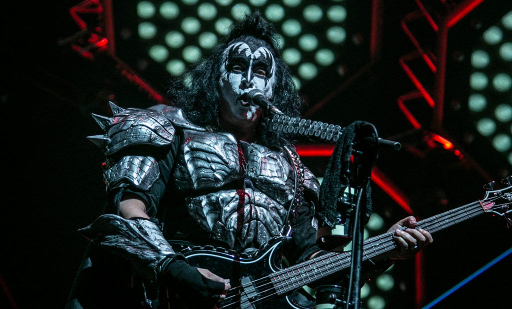 Gene Simmons of KISS perform at the Save Mart Center in Fresno on Feb. 8, 2019 (GV Wire Photo/Jamie Ouverson)