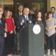 Photo of Fresno Mayor Lee Brand and other members of the Mayor's Initiative to Combat Human Trafficking