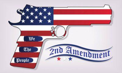 "Photo of a gun with the banner ""2nd Amendment"""