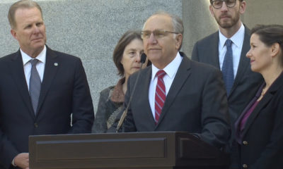 Photo of Fresno Mayor Lee Brand talking about homelessness in Sacramento