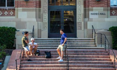 Photo of people on the UCLA campus