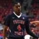 Photo of Fresno State basketball player Braxton Huggins