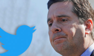 Composite of Twitter logo and Rep. Devin Nunes