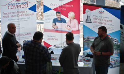 Photo of visitors at a veterans job fair
