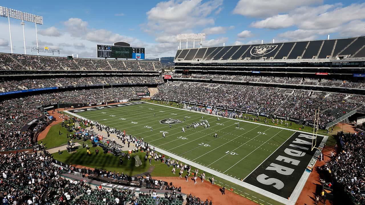 Photo of Raiders stadium in Oakland