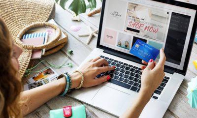 Photo of a women shopping online