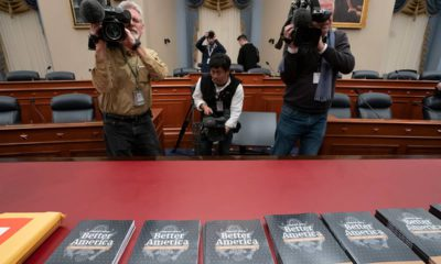 Photo of prep for Trump's 2020 budget outline in Capitol Hill