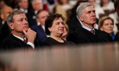 Photo of Supreme Court Justices John Roberts, Elena Kagen and Neil Gorsuch