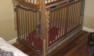 Photo of two boys in cages in a home in Tulelake, CA