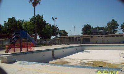 Photo of the old, broken Calwa pool