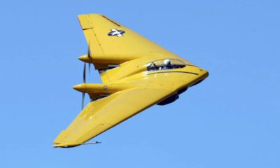 Photo of Northrop N-9M in flight