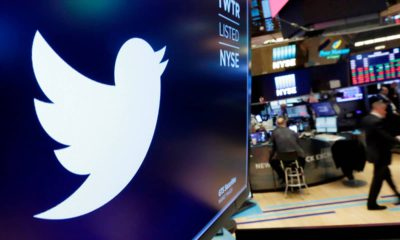 Photo of Twitter logo at the NYSE