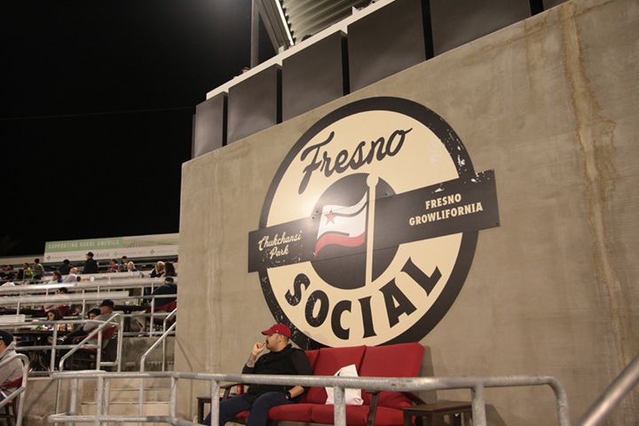 Fresno Social is a new feature  at Opening Night at Chukchansi Park in Fresno on April 4, 2019 (GV Wire/Jahz Tello)