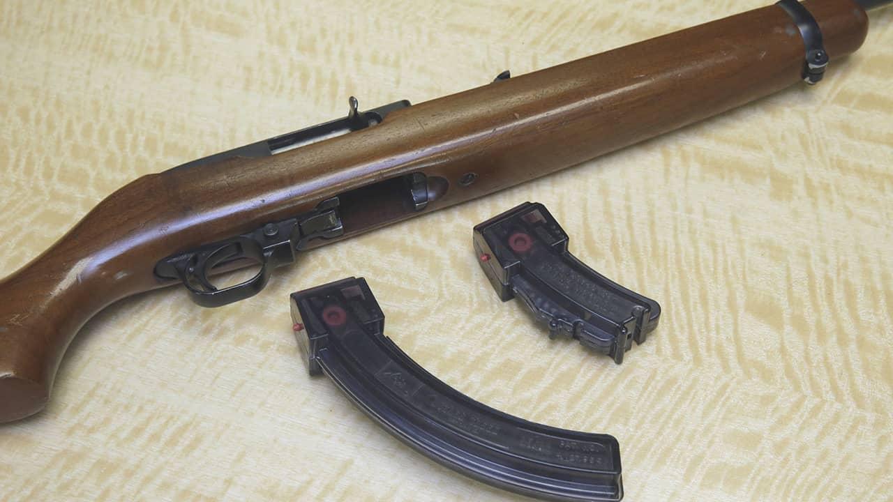 Photo of a semi-automatic rifle
