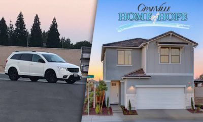 Composite of suspect's SUV and Granville Home of Hope