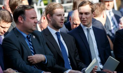 Photo of White House Social Media Director Dan Scavino, Eric Trump, and White House senior advisor Jared Kushner