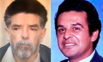 "Portraits of slain DEA agent Enrique ""Kiki"" Camarena and alleged killer Ezequiel Godinez Cervantes"