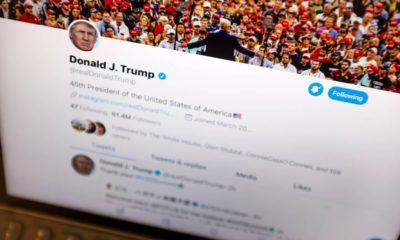 Photo of Donald Trump's Twitter account