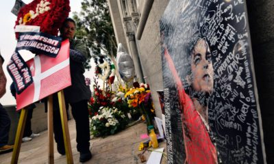 Photo of Michael Jackson memorial