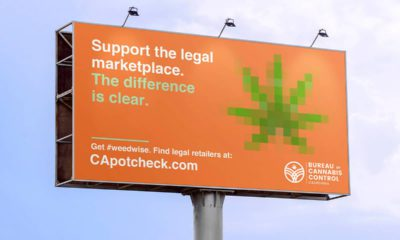 Photo of rendering of billboard urging consumers to purchase cannabis from retailers