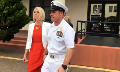 Photo of Navy Special Operations Chief Edward Gallagher and his wife, Andrea Gallagher