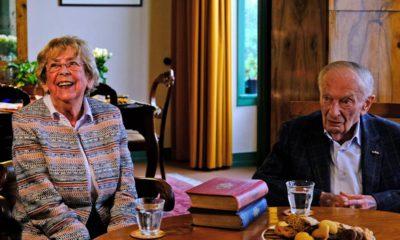 Photo of Jacqueline van Maarsen and Albert Gomes de Mesquita