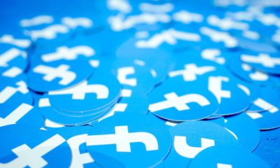 Photo of Facebook stickers laid out on a table
