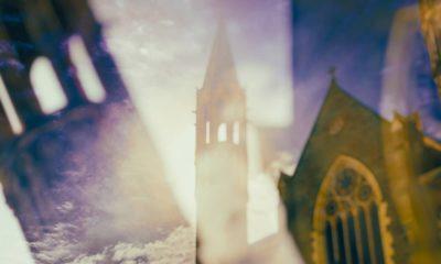 Composite photo of Catholic church spiresf