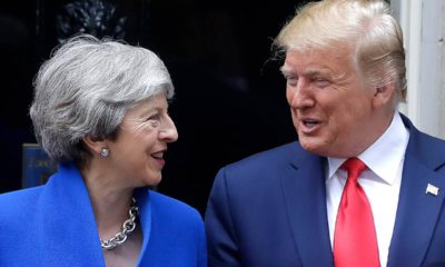 Photo of President Donald Trump and British Prime Minister Theresa May