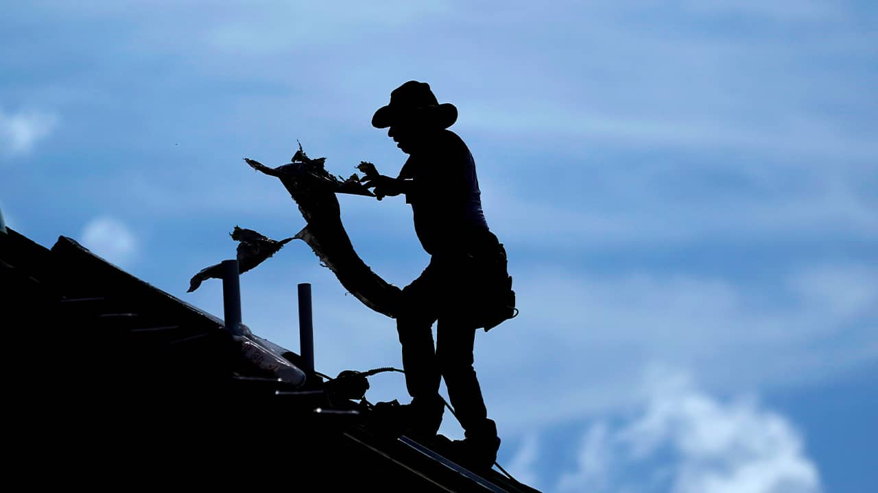 Photo of roofer