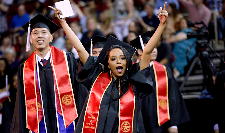 Photo of Fresno State graduates