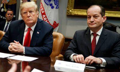 Photo of President Donald Trump and Alex Acosta