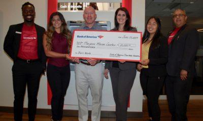 Photo of Bank of America's $10,000 grant to the Marjaree Mason CenterOf