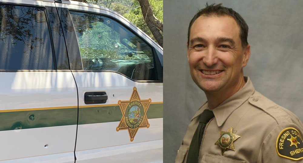 Deputy John Erickson, bullet holes in truck