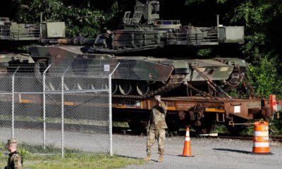 Photo of Abrams tanks