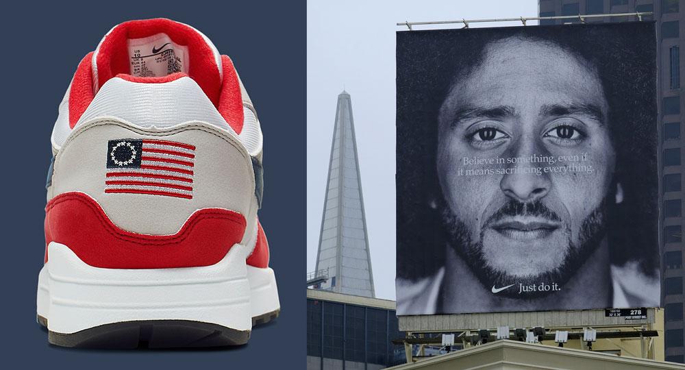 Nike Betsy Ross shoe, Colin Kaepernick