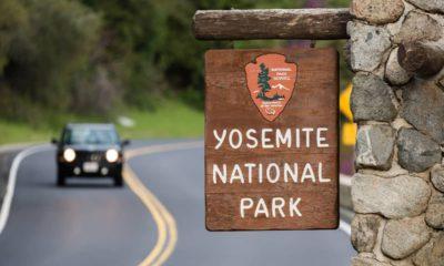 Photo of someone driving through Yosemite