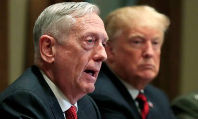 Photo of former Defense Secretary Jim Mattis and President Donald Trump